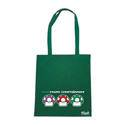 Borsa Mushroooms Entertainment Mush - Verde Bottiglia - Games by Mush Dress Your Style