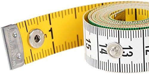 測定ツールボタンテーラー測定テープミシンツールフラットテープ150センチメートルボディ60in 1PCS
