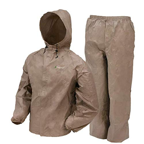 Frogg Toggs Ultra-Lite2 Waterproof Breathable Rain Suit, Men's, Khaki, Size Medium -