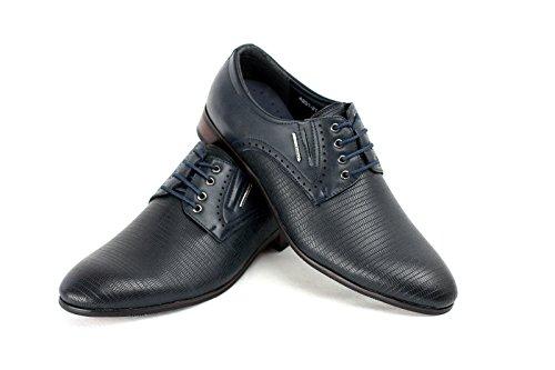 Moda para hombre Italiano Vestido Zapatos Azul Marino
