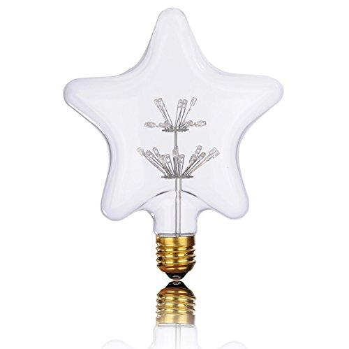 Base Decorative Cover (Vintage Edison LED Bulbs,Decorative Firework LED Bulbs Glass,Dimmable,Warm White 2200k, E26/E27 Base Antique Filament Bulb for Bar,Bedroom,Wedding,Christmas.)