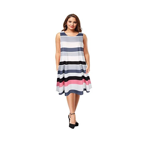 878986a383 AMZ PLUS Womens Plus Size Casual Boho Sundress Summer Sleeveless Dresses -  Bohemian Fashion Corner