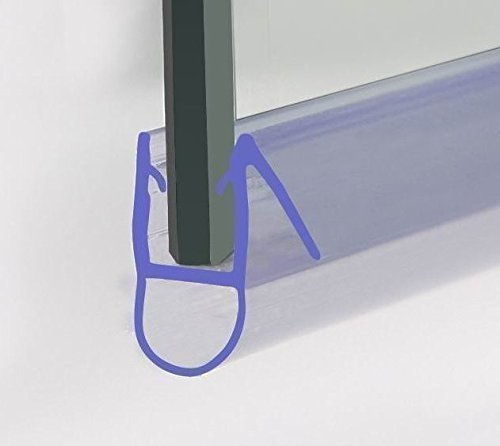 HNNHOME Bath Shower Screen Door Seal For 6-8 mm Glass Up To 8 mm Gap