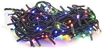 takestop® 200 LED LUCI Multicolor Colorate Colore 091/371 Filo Verde Albero di Natale Catena Luminosa Controller 8 FUNZIONI MINILUCCIOLE LAMPADINE LUCCIOLE