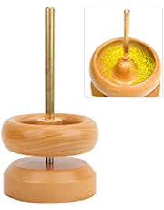 Bead Spinner, Wooden Rotating Bead Loader with Beading Needle for Jewelry Making Crafting Bracelet Necklace
