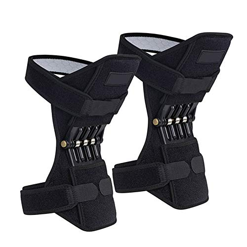 QYLLXSYY 1Pair Patella Booster Spring Knee Brace Joint Support Knee Pads for Mountaineering Squat Hiking Sports Knee Booster Kneepad (Color : 2 Pc) by QYLLXSYY