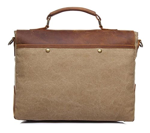 Vintage Bag Shopping Bag Travel Khaki Messenger Wallet Man Handbag Bag Canvas Coffee Work Shfang EwY4qBFY
