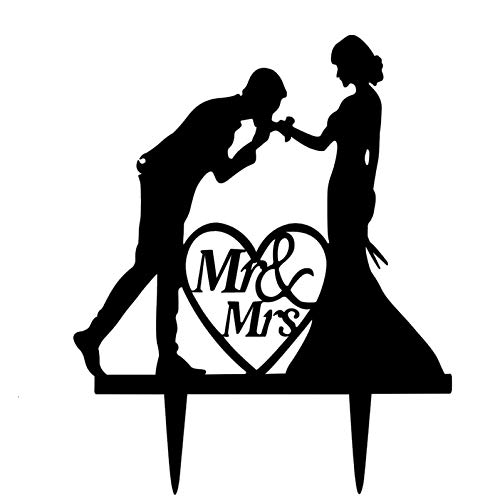 Mr and Mrs Wedding Cake Toppers Kissing For Wedding Party Engagement