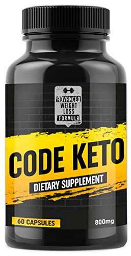 Keto Diet Pills - Fat Burner Weight Loss Supplement for Keto Diet - Boost Energy and Metabolism - Best Ketosis Supplement for Women and Men - Code Keto - 60 Capsules