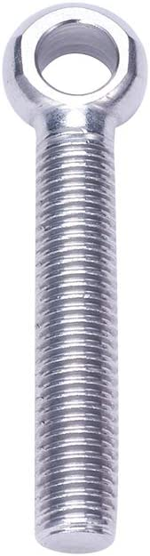 MroMax 2pcs M14 x 80mm Eye Bolt Screw Lifting Ring 304 Stainless Steel Axle Pin Split Pin Shaft Pin Dowel Bolt Ring Screw Loop Hole Bolt