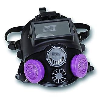 North mediana/grande negro de silicona 7600 Series Full Face facepiece con accesorio de soldadura