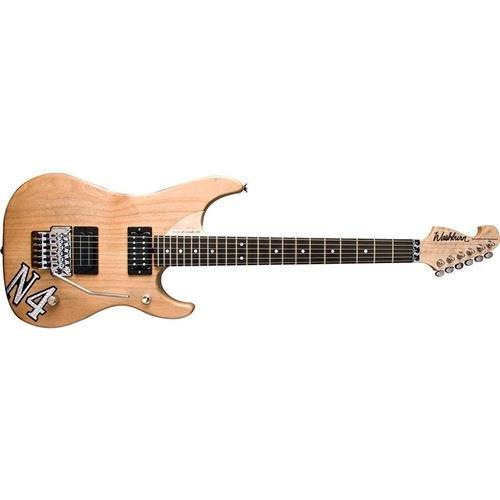 Washburn 6 String Solid-Body Electric Guitar, Natural Distressed (N4VINTAGE-D)