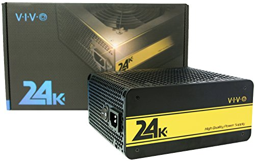VIVO 24K 650W 80+ GOLD PC Computer ATX Desktop Fully Modular Power Supply (PSU-650G)