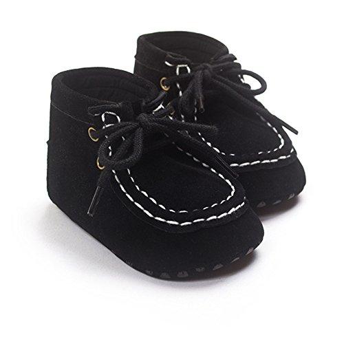 Bañador para bebé Boys algodón high-top Zapatillas negro negro Talla:12-18 meses negro
