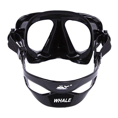 Ballena Buceo Snorkel Apnea Máscara de snorkel Set, negro: Amazon.es: Deportes y aire libre