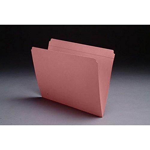 Reinforced Folder Cut Tab Full (11pt Pink Folders, Full Cut Reinforced TOP TAB, Letter Size (Box of 100))