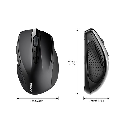 TeckNet Pro 2.4G Ergonomic Wireless Mobile Optical Mouse with USB Nano Receiver for Laptop,PC,Computer,Chromebook,Macbook,Notebook,6 Buttons,24 Months Battery Life,5 DPI Adjustment Levels by TECKNET (Image #8)