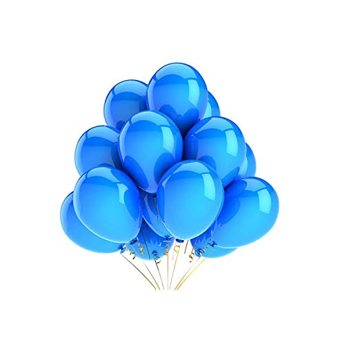 Latex Balloons Wedding Decorations Helium Birthday Party Decorations Adult Kid's Toy,Blue,20Pcs ()