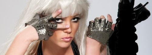Lady Gaga Silver Fingerless Glove, Silver, One - Lady Halloween Gaga