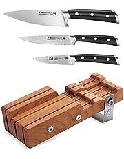 Cangshan S Series 61864 German Steel Forged 4-Piece Starter Knife Block Set