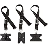 Black ID 2 Card Badge Holder with Heavy Duty Breakaway Lanyard and Detachable clip, Horizontal or Vertical, Pack of 3.