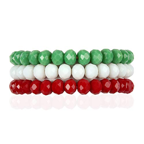 RIAH FASHION Bohemian Multi-Layer Beaded Stacking Bracelets