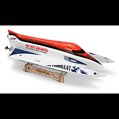 Exceed Formula 1 620MM Electric Powerboat Almost Ready to Run with Outboard Motor ()