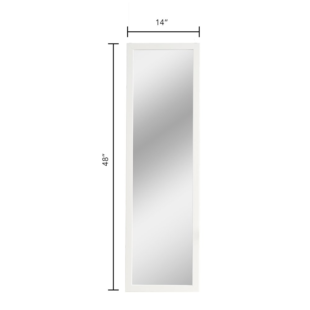Mirrotek Door Hanging Mirror, 14 x 42, Black DM1442BK