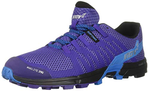 Inov-8 Women's Roclite 290 (W) Trail Running Shoe, Purple/Blue, 8.5 B US