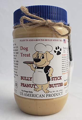 US AMERICAN PRODUCT Dog Treats Bully Stick Peanut Butter (1 Lb)