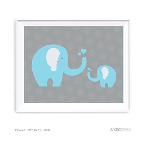 [Andaz Press Boy Elephant Baby Shower Collection, Party Signs, Graphic Decorations, 8.5x11-inch,] (Party Decoration Items)