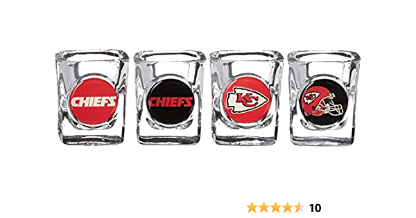 NFL Minnesota Vikings Four Piece Square Shot Glass Set Individual Logos