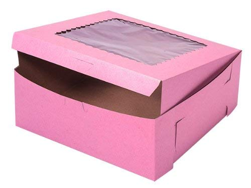 (Bakery Box 1 Piece Lock Corner with Window - 10