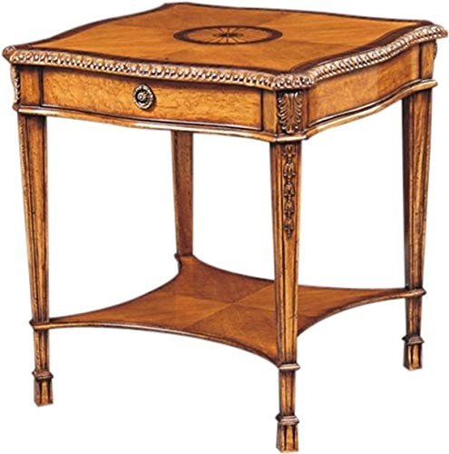 Scarborough House Side Table Birdseye Maple Rosewood Marquetry Inlay Drawer