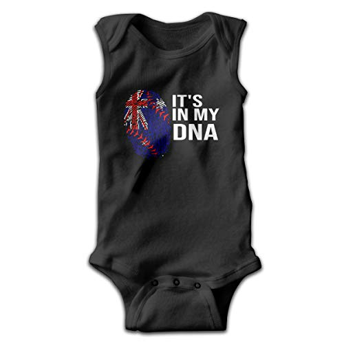 Softball It's in My DNA Australian Flag Baby Newborn Infant Creeper Sleeveless Romper -
