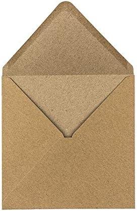 Kraftpapier Umschläge, 100 Stück | hohe Qualität: 110 g/m² | Briefumschläge, Kuvert, Briefkuvert, Briefhülle für Grußkarten, Einladung, Geburtstagskarten (DIN C6 | 11,4 x 16,2 cm)