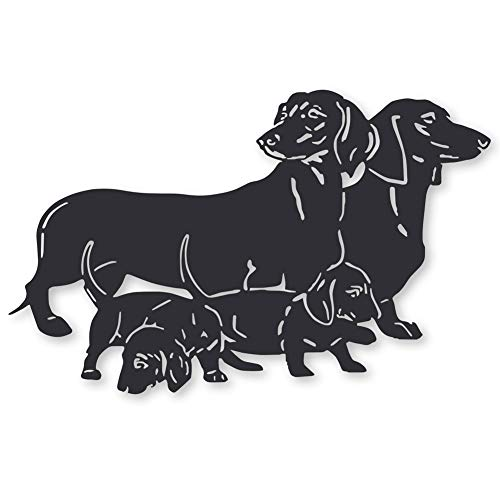 Collections Etc Dachshund Family Detailed