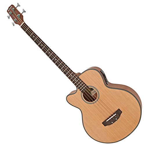 Elektroakustische Bassgitarre von Gear4music Linkshändermodell