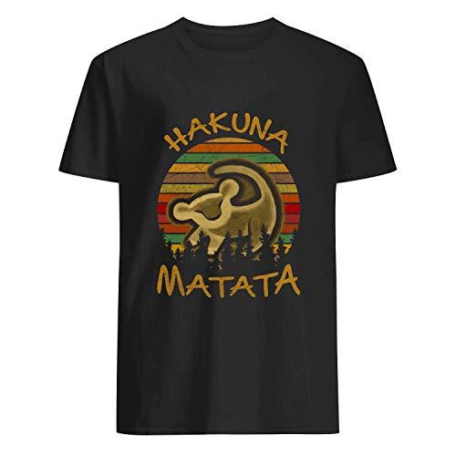 USA 80s TEE Hakuna Matata Shirt Black]()