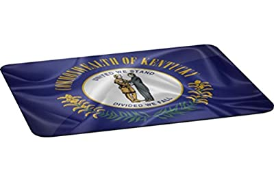 Rikki Knight Kentucky State Flag Large Non-Slip Fabric Top Table Place Mats with Rubber Backing