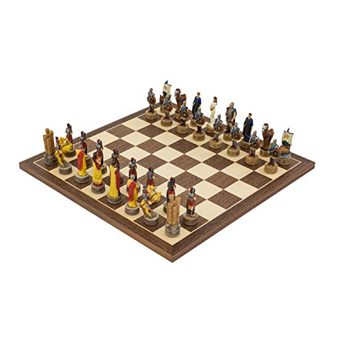 - Regencychess The Battle of Troy Hand Painted Themed Chess Set by Italfama