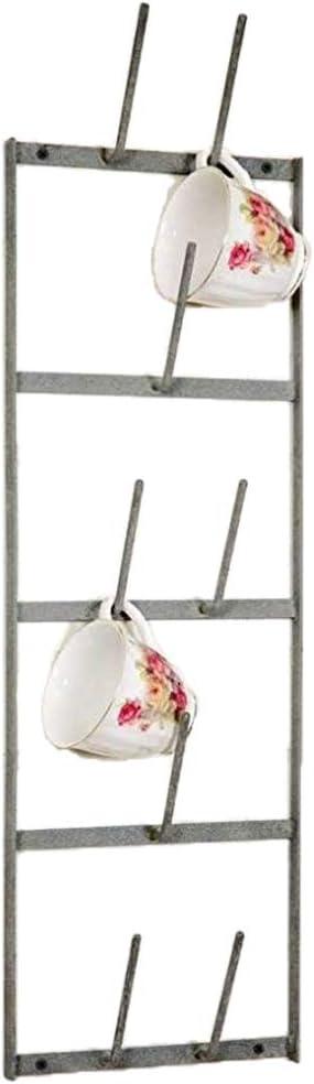 Narrow Wine Bottle Dryer Wall Rack, Gray, 8