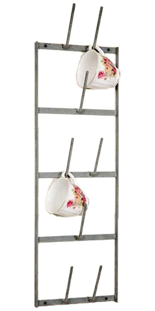 Narrow Wine Bottle Dryer Wall Rack, Gray, 8'' x 4'' x 27'' by Colonial Tin Works