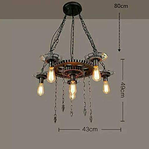 BOSSLV Industrial Pendent Lamp Creative Iron Rope Glass Resin 3-Lights Chandelier Art Loft Bar Hanging Lamp Parlor Dining Hall Restaurant Study Decorative Indoor Lighting L52Cm E27
