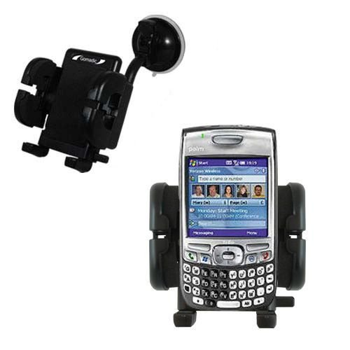 (Windshield Vehicle Mount Cradle suitable for the Palm Palm Treo 750v - Flexible Gooseneck Holder with Suction Cup for Car / Auto.)