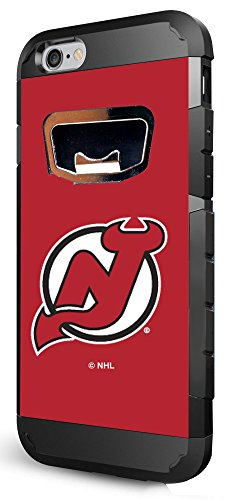 NHL New Jersey Devils Bottle Opener iPhone 6 Case, One Size, Black