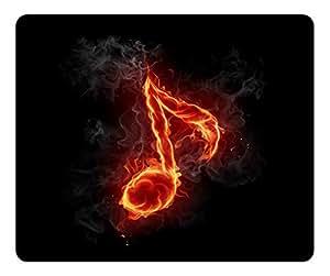 Music Design Rectangular Mouse Pad Flaming note