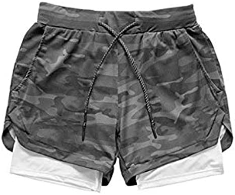 Amazon Com No Branded 2020 Camo Running Shorts Men 2 In 1 Double Deck Quick Dry Gym Sport Shorts Fitness Jogging Workout Shorts Men Sports Short Pants Clothing