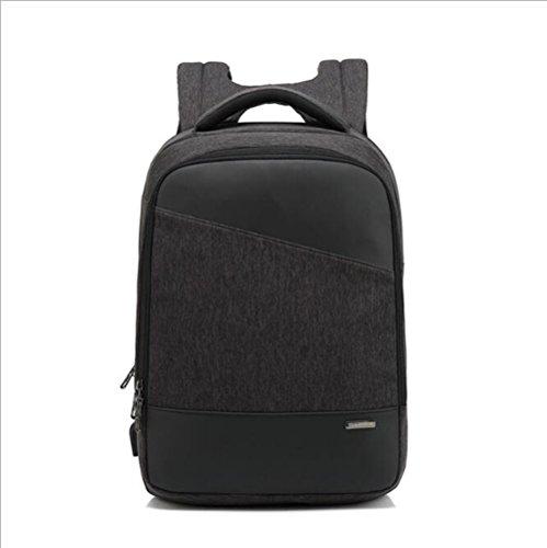 Computer Rucksack Business-Rucksack Männer Frauen USB Lade Reisetasche Schüler Rucksack,Gray Black