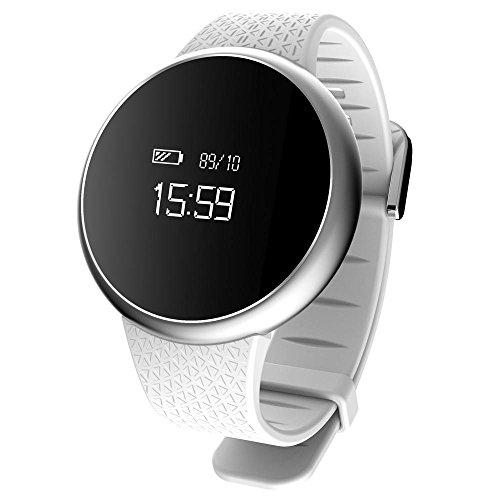 Price comparison product image Leewa A98 Bluetooth 4.0, Sleep monitor, Pedometer and Ect Fuctions, Sport Smart Wristband For Android 4.4/iOS System 8.0 Version (White)